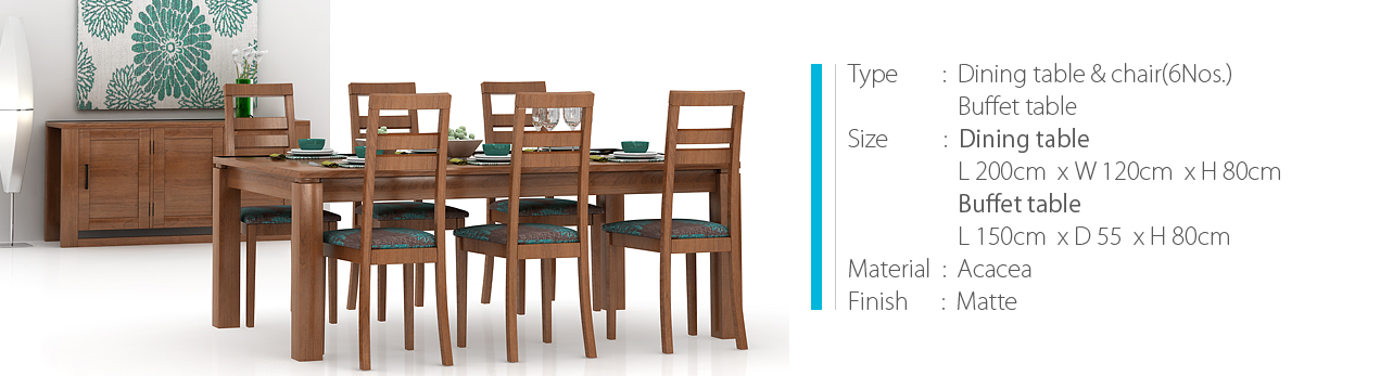 dining and buffet table